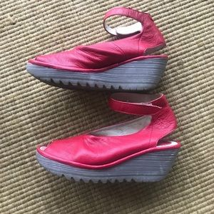 Fly London Shoes - Fly London open toe wedge
